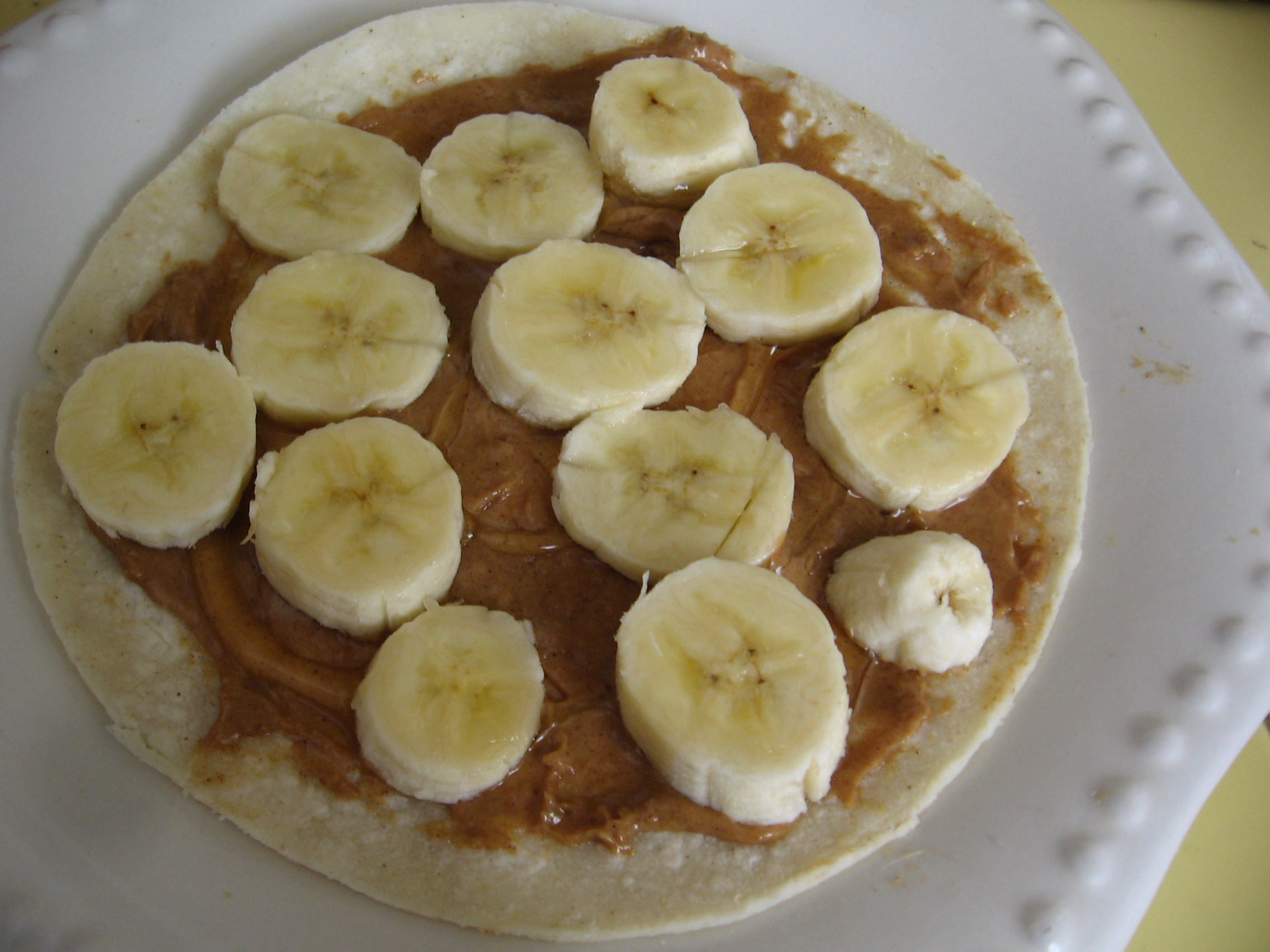 Healthy Snack – Peanut Butter Banana Quesadilla!