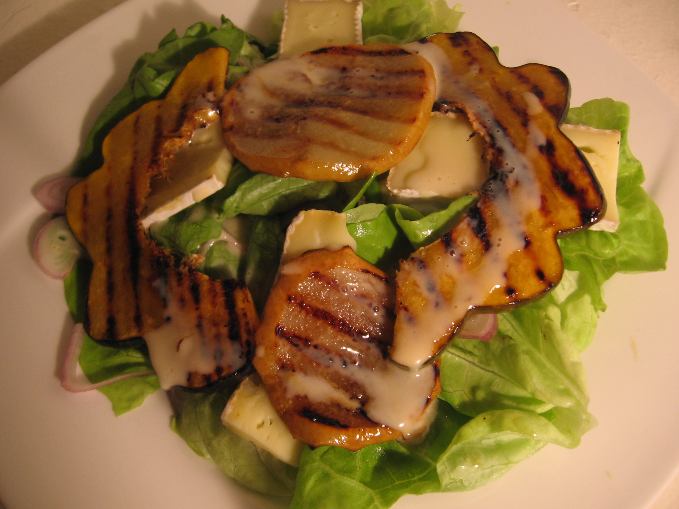 A Grilled Squash Salad w/Asian Pear, Brie, and a Maple ...