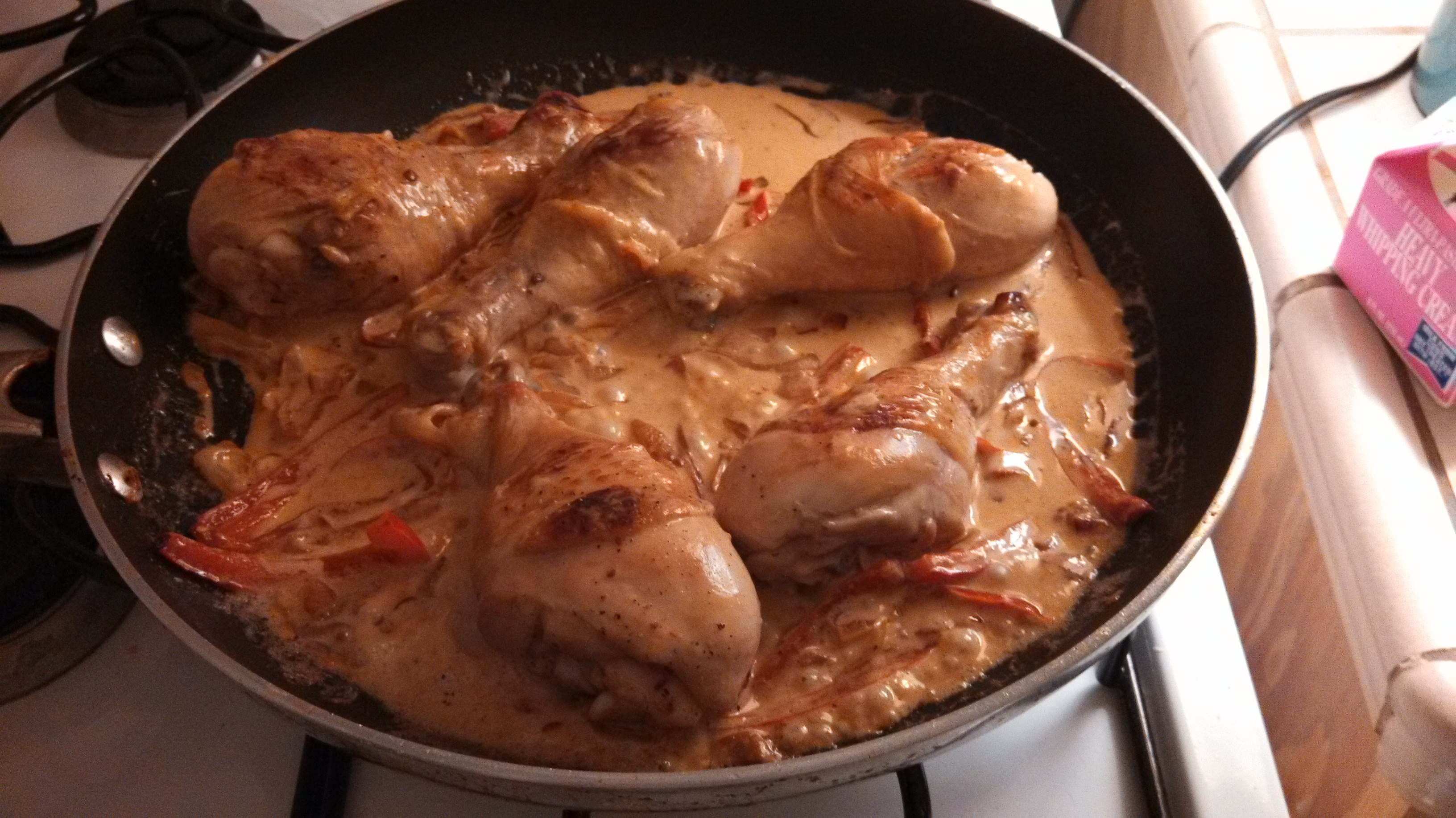 Chicken in a Brandy Fennel Cream Sauce | Amy's Food Blog